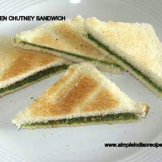 Bread Sandwich With Green Chutney Recipes