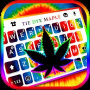 ثيم لوحة المفاتيح Tiedye Neon Weed APK