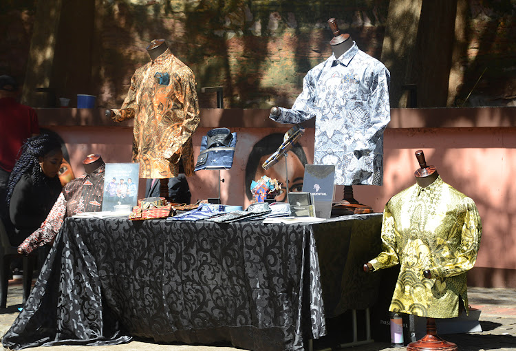 Madiba shirts for sale during an event at Constitutional Hill
