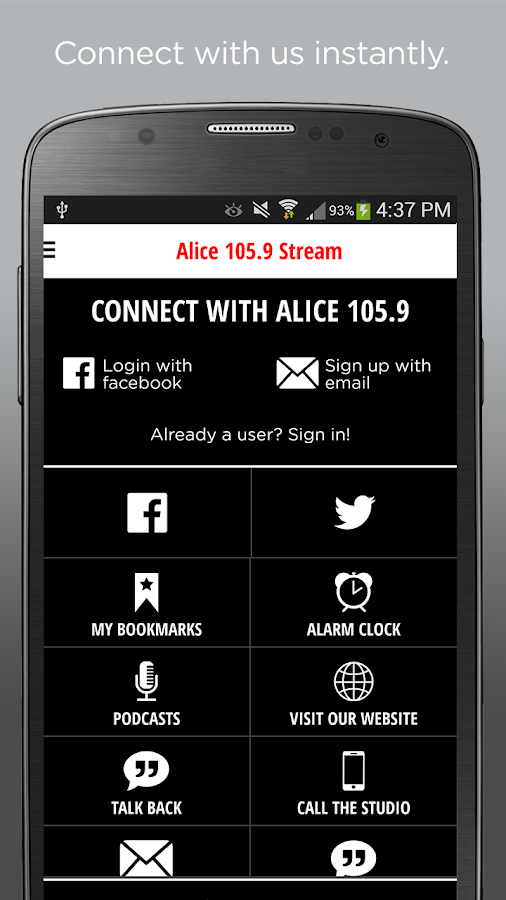 Alice 105.9- screenshot