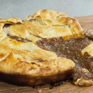 Panhead Stout Steak & Cheese Pie.
