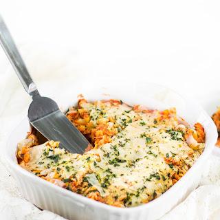Gluten-Free Chicken Parmesan Casserole.