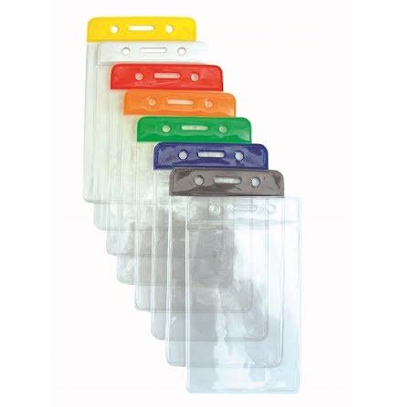 Plastficka med färgad topp