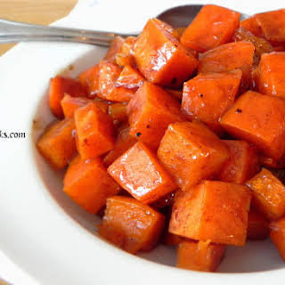 Roasted Sweet Potatoes with Honey and Cinnamon.