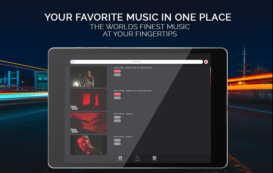 Tubify Free Music Player App (Android)- screenshot
