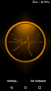 Electric Pulse Clock Live WallPaper - náhled