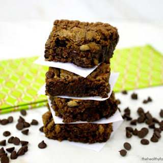 Matcha Green Tea Chocolate Chip Brownies (Vegan, Gluten-Free, Dairy-Free, Paleo-Friendly, No Refined Sugar)