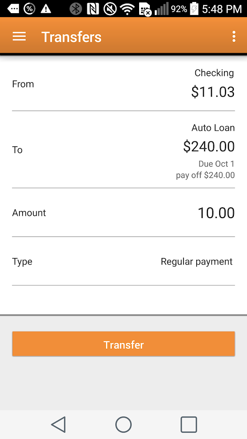 PFCU Mobile- screenshot