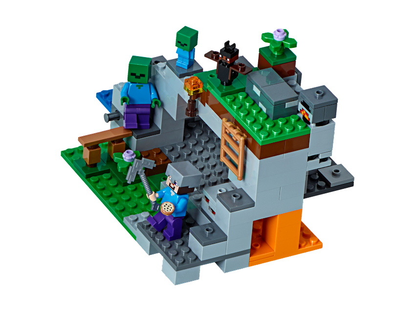 Contenido de Lego® 21141 La Cueva de los Zombis
