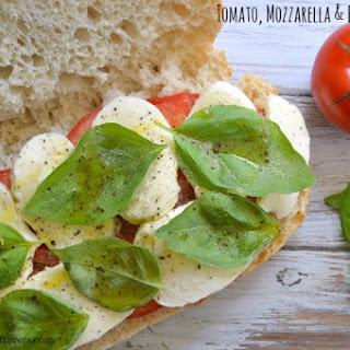 Tomato, Mozzarella & Basil Sandwich