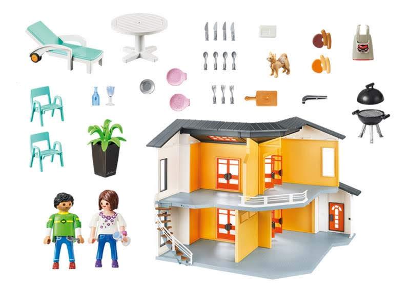 Contenido real de Playmobil® 9266 Casa Moderna