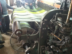 Photo: A big old noisy contraption which makes beautiful alpaca blankets.