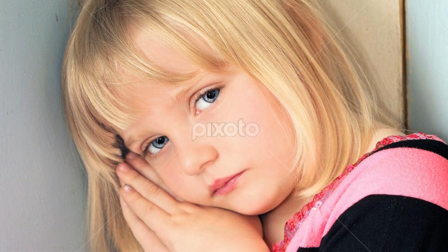 Getting Sleepy by Cheryl Korotky - Babies & Children Child Portraits