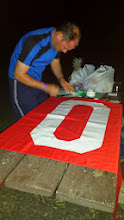 Photo: Mr. Kutter making our prank flag