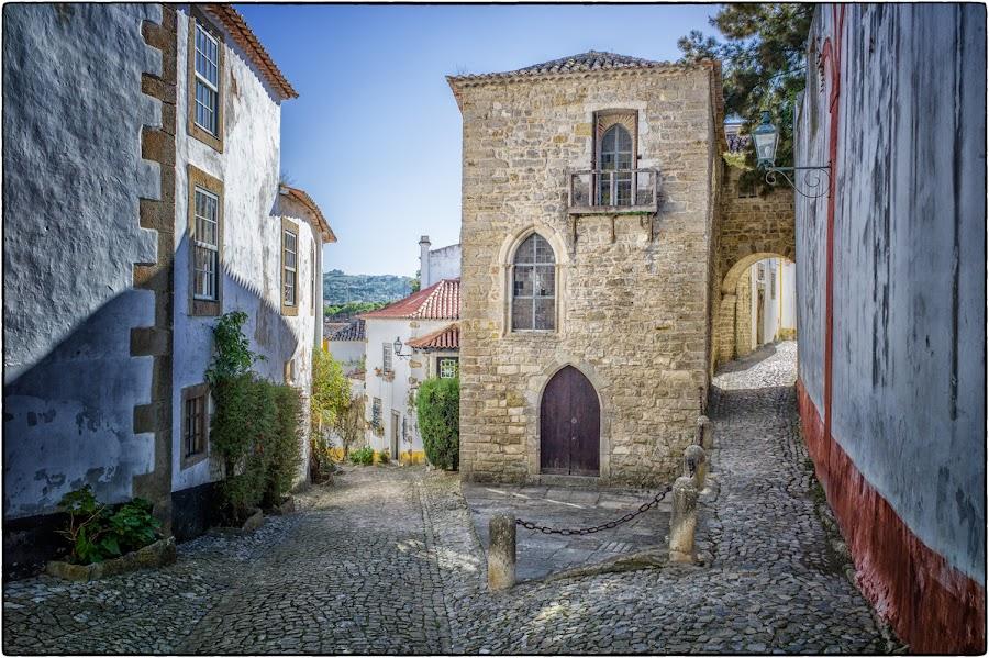 Óbidos by Bill Hertha - City,  Street & Park  Historic Districts ( street, portugal, cobblestone, city )
