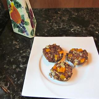 Quinoa and Sweet Potato Stuffed Mushrooms.