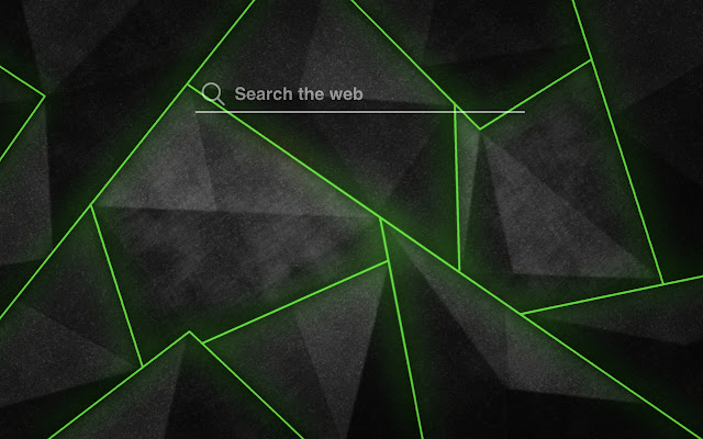 Black Green Shards HD Wallpaper Tab Theme