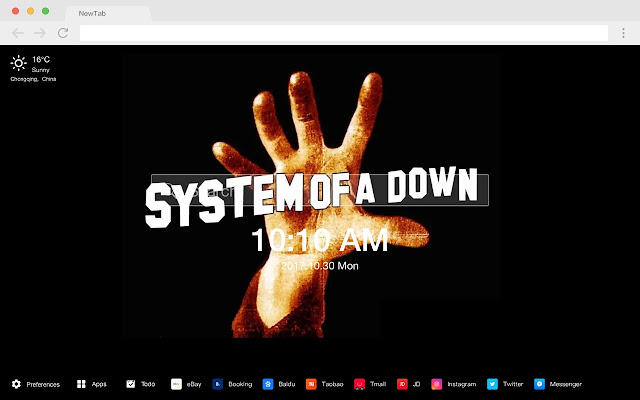 System Of A Down New Tab Band HD Themes