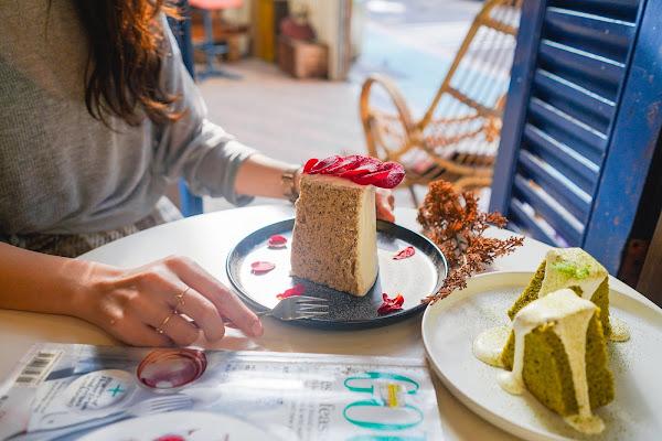 I Met You Cafe:台北101旁寧靜的午後、玫瑰伯爵戚風蛋糕美的不可思議@捷運101咖啡廳.信義區早午餐.信義區咖啡廳