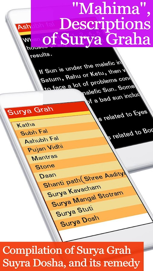 Surya Graha, Lord Sun mantra- screenshot