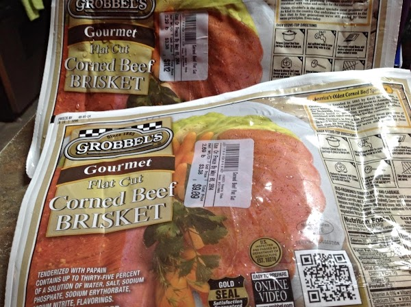 I used 2 three pound Brisket flats for this recipe. Because Corned Beef Briskets...