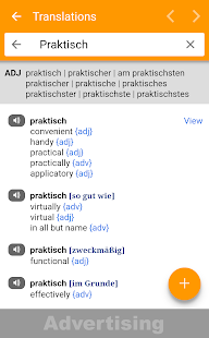 dict.cc dictionary Screenshot