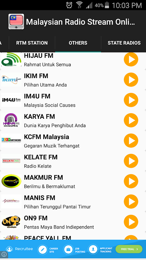 Malaysian Radio Stream Online- screenshot