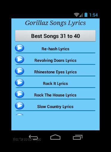 Download Gorillaz Feel Good Inc Songs Google Play Softwares
