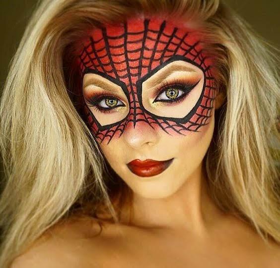 Spiderwoman makeup idea