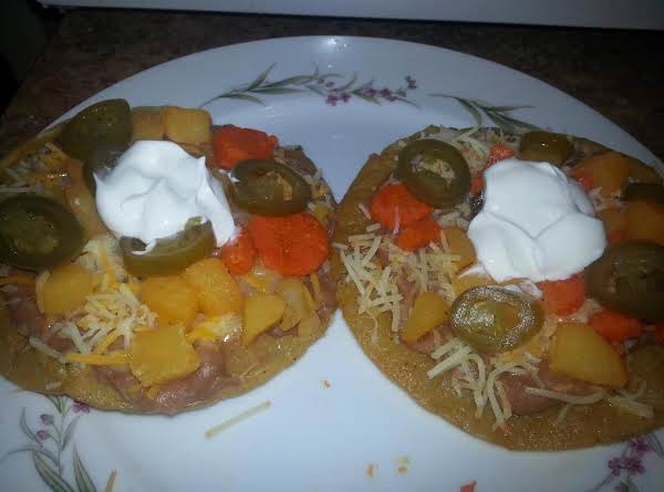 Potato & Carrot Tostadas