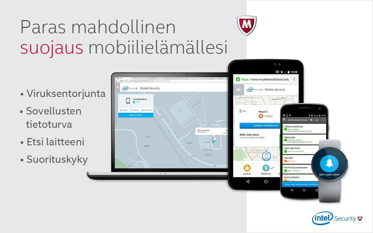 McAfee Mobile Security – Android-sovellukset Google Playssa