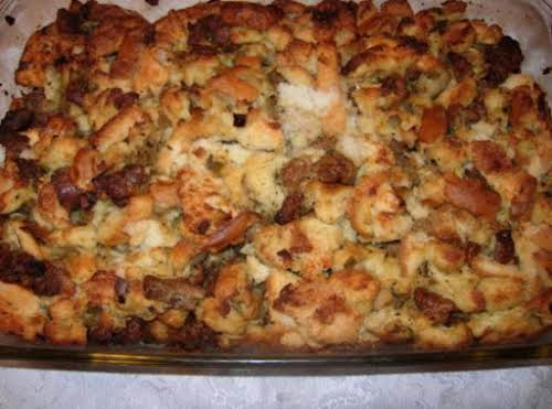 """Mom M's Sausage Stuffing """"I love this recipe! I make it every..."""