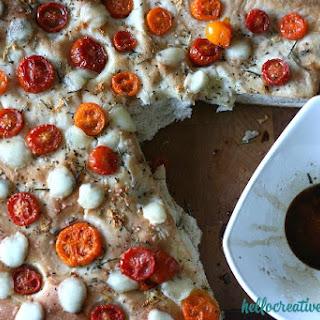Homemade Focaccia Bread Recipe (Modify with Cherry Tomatoes & Bocconcini)