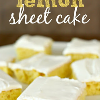 Easy Lemon Sheet Cake.