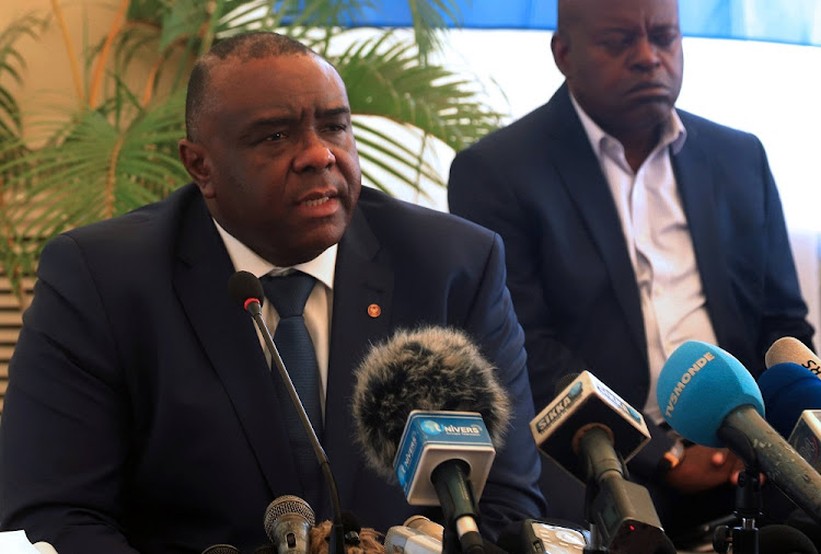 Congolese opposition leader Jean-Pierre Bemba of the Movement for the Liberation of the Congo (MLC) addresses a news conference in Kinshasa, Democratic Republic of Congo, August 3, 2018.