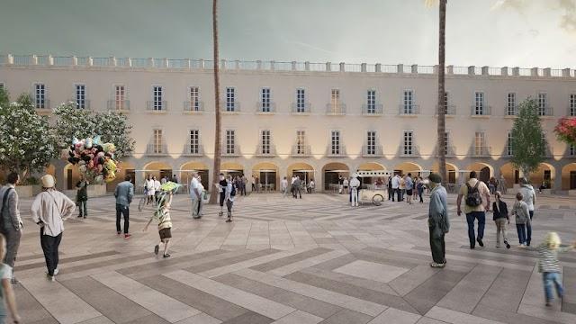 Recreación de cómo queda la Plaza Vieja con el proyecto de rehabilitación planteado