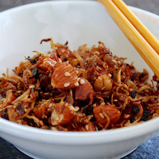 Myulchi Bokkeum (stirfried Anchovies With Almonds And Walnuts)..