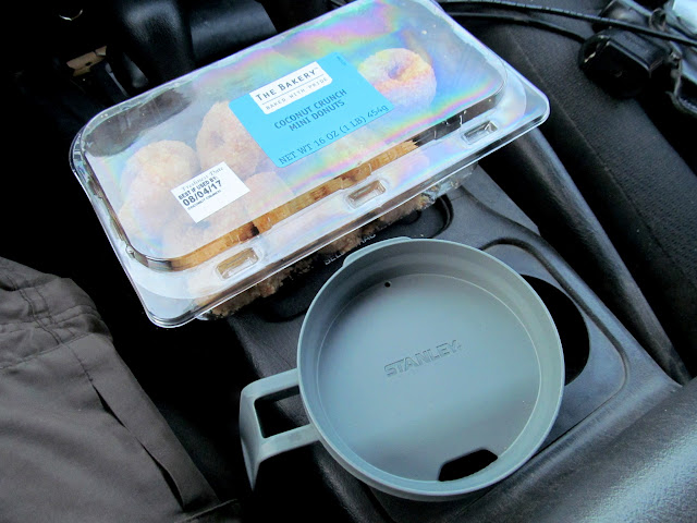 Coffee and donuts for the drive