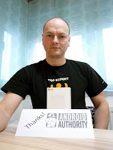 Photo: Giveaway winner Siniša showing off his new BLU Pure XL.
