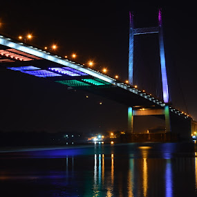 Lets color the gap! by Biswajit Chatterjee - Novices Only Objects & Still Life ( night light, bridge, light, river )