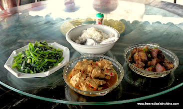 Photo: Delicious lunch for 100 RMB