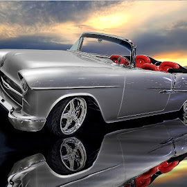 '55 Bel Air by JEFFREY LORBER - Transportation Automobiles ( lorebrphoto, bel air, chevrolet, jeffrey lorber, car photo,  )