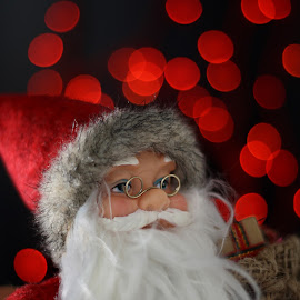 Santa by Alex P - Public Holidays Christmas ( red, new year, santa claus, christmas, bokeh )