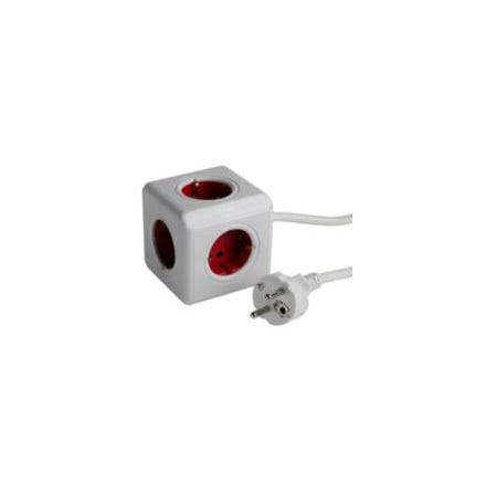 Grenuttag, PowerCube Extended, jordat, 5-vägs, med kabel 1,5 m