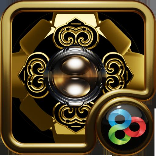 Golden K 1 GO Launcher Theme