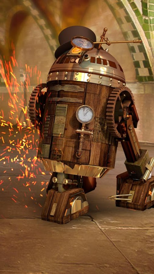 R3 Steampunk Star Droid Live Wallpaper - Android Apps on ...