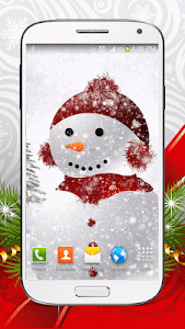 Cute Snowman Live Wallpaper HD screenshot 4