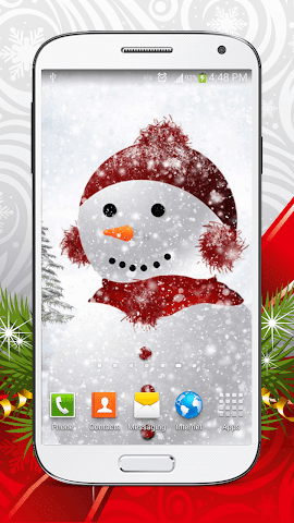 android Cute Snowman Live Wallpaper HD Screenshot 4