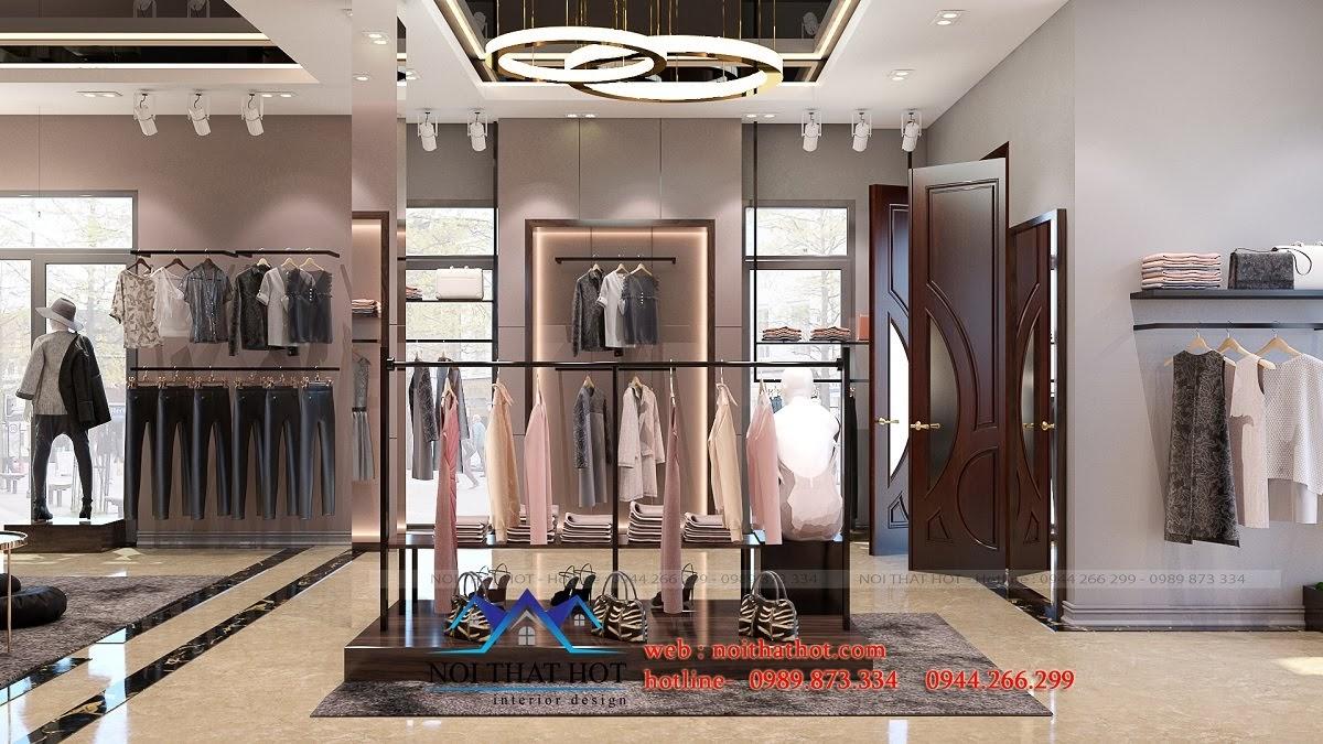 thiết kế shop thời trang sang trọng 3