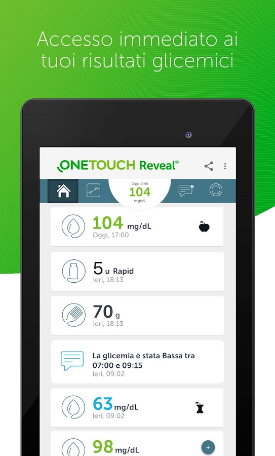 OneTouch Reveal- screenshot